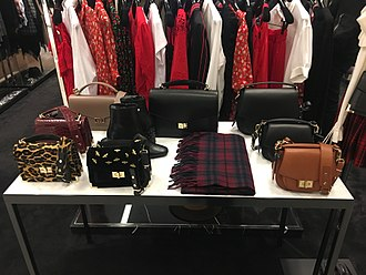 Emily Ratajkowski - Bags designed by Ratajkowski for The Kooples on display at Bloomingdale's at 900 North Michigan