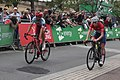 2018 Tour of Britain stage 2 156 Rick Zabel 162 Matthew Bostock.JPG