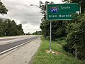 2020-08-07 18 45 40 View east along Maryland State Route 372 (Wilkens Avenue) at the exit for Interstate 695 SOUTH (Glen Burnie) on the edge of Catonsville and Arbutus in Baltimore County, Maryland.jpg
