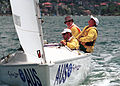 231000 - Sailing sonar Jamie Dunross Noel Robins Graeme Martin action 3 - 3b - 2000 Sydney race photo.jpg