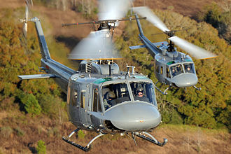 23rd Flying Training Squadron - Squadron student pilots practice landing TH-1H helicopters during formation-flight patterns