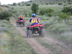 English: Two ATV (All Terrain Vehicle) at Crim...