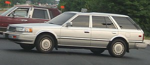 1985-1988 Nissan Maxima photographed in USA.