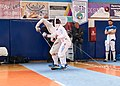 2nd Leonidas Pirgos Fencing Tournament. Matthew Baker and Vasilios Papadopoulos.jpg