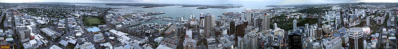 360 graders panorama over Auckland