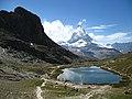 3951 - Gornergrat - Matterhorn, Riffelhorn, and Riffelsee.JPG