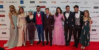 Operación Triunfo (Spanish TV series) - Some of the contestants of Operación Triunfo 2017 at the Premios Forqué 2018.