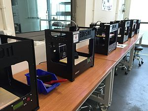 Singapore University of Technology and Design - Fused deposition modelling 3D printers in one of SUTD's laboratories