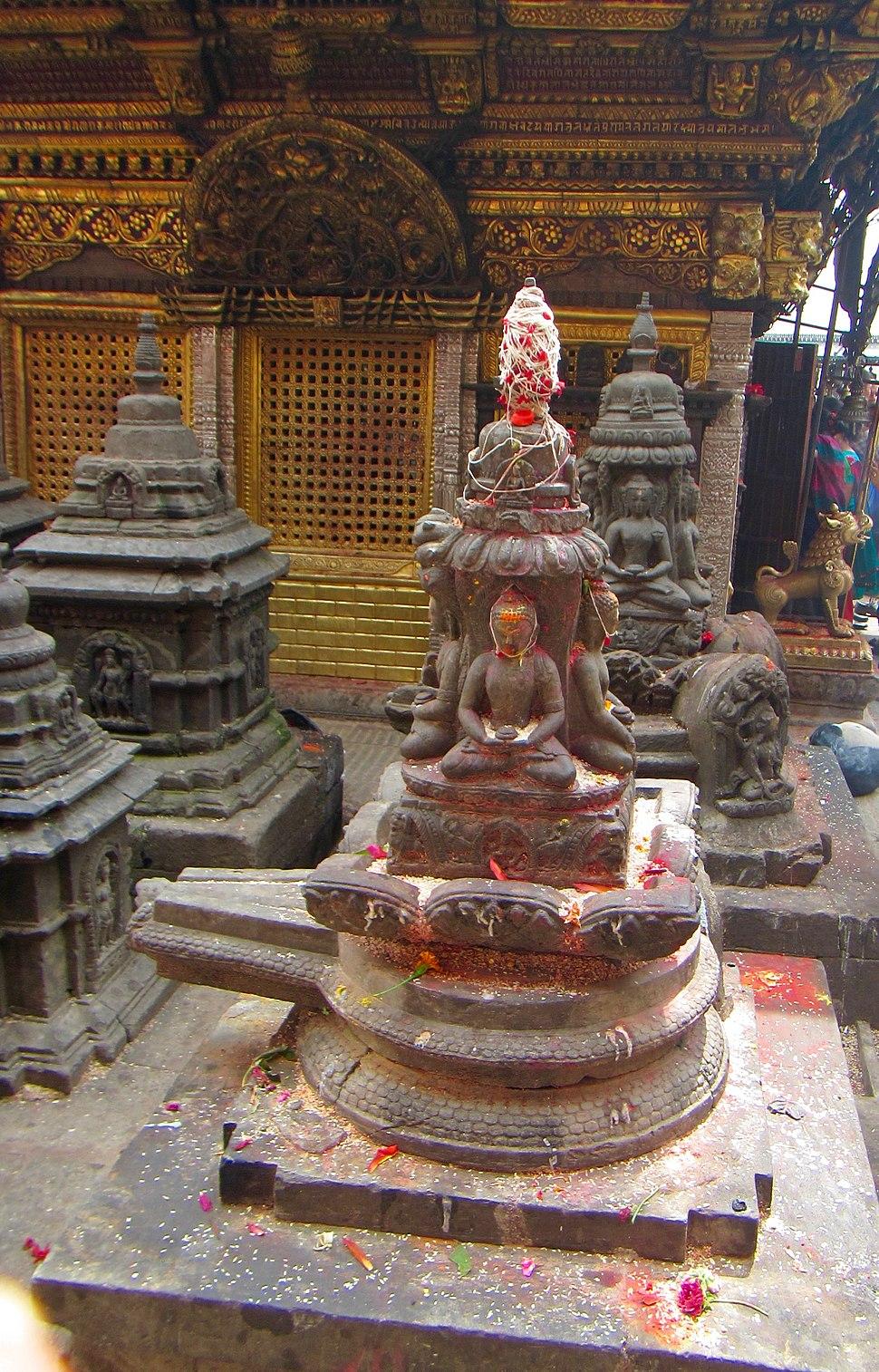 3 Buddha and Shiva Linga Vajrayana Buddhism