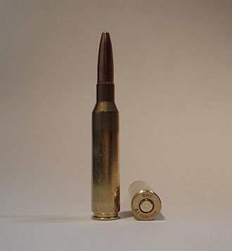 6.5×52mm Carcano - A 6.5×52mm Carcano cartridge loaded with a modern hunting bullet