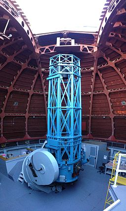 The 60 inch Hale (debuted in 1908) considered to be the first modern large research reflecting telescope. 60-inch Telescope.JPG