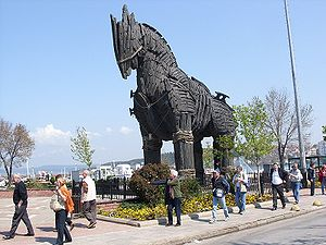 Çanakkale - This is the Trojan horse that appeared in the Brad Pitt movie, now in the town of Çanakkale near Troy