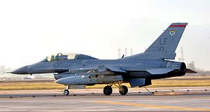 63d Fighter Squadron - 63d FS F-16D Block 42H Fighting Falcon 90-0783