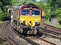 66169 (and 66 number 846) Sydenham to Hoo Junction up yard (14029748847).jpg