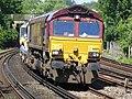 66169 (and 66 number 846) Sydenham to Hoo Junction up yard (14029754837).jpg
