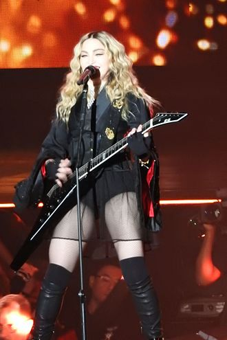 "Burning Up (Madonna song) - Madonna performing ""Burning Up"" during the Rebel Heart Tour (2015–2016)"