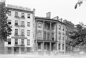 Shrine of St. Elizabeth Ann Bayley Seton - 7 and 8 State Street in 1891