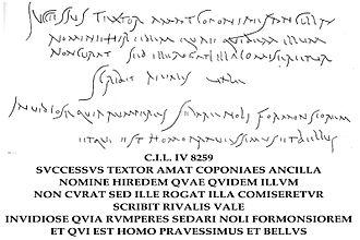 Roman graffiti - Inscription diaologue