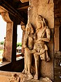 8th century Durga Surya temple a greeting couple at entrance, Aihole Hindu temples monuments 2.jpg