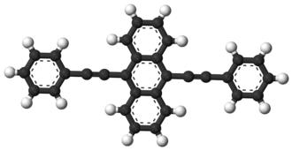 9,10-Bis(phenylethynyl)anthracene - Image: 9,10 Bis(phenylethynyl)an thracene 3D balls