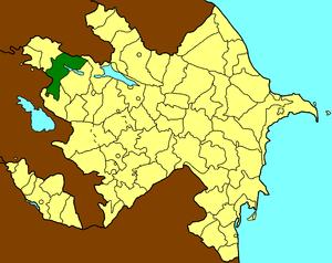 Товузский район на карте