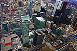 A309, view from CN Tower, Toronto, Ontario, Canada, 2013.JPG