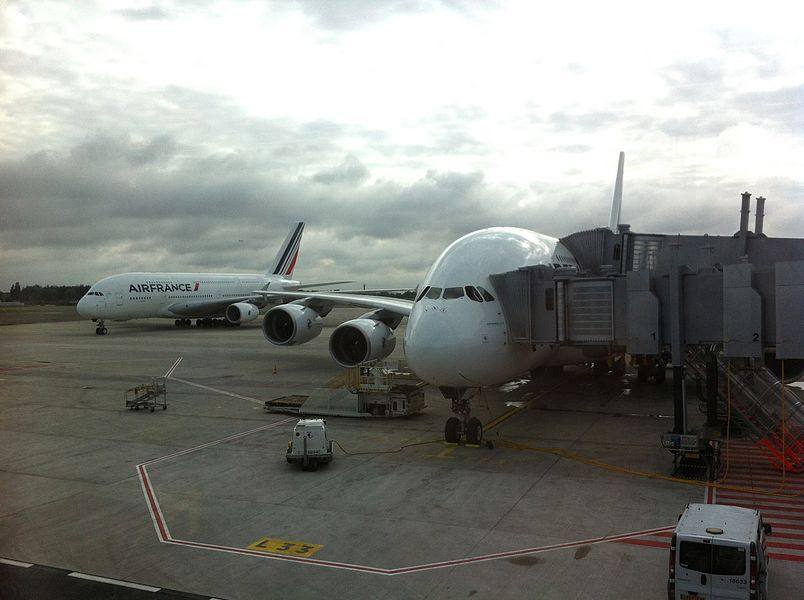Airbus A 380 flight AF 066 CDG-LAX