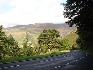 A487 road - Image: A487 Road geograph.org.uk 243423