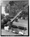 AERIAL VIEW, VIEW SOUTH OF BRIDGE - New River Bridge, Spanning New River at State Route 623, Pembroke, Giles County, VA HAER VA,36-PEMB.V,1-2.tif