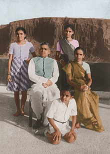 Young Anil with parents and sisters