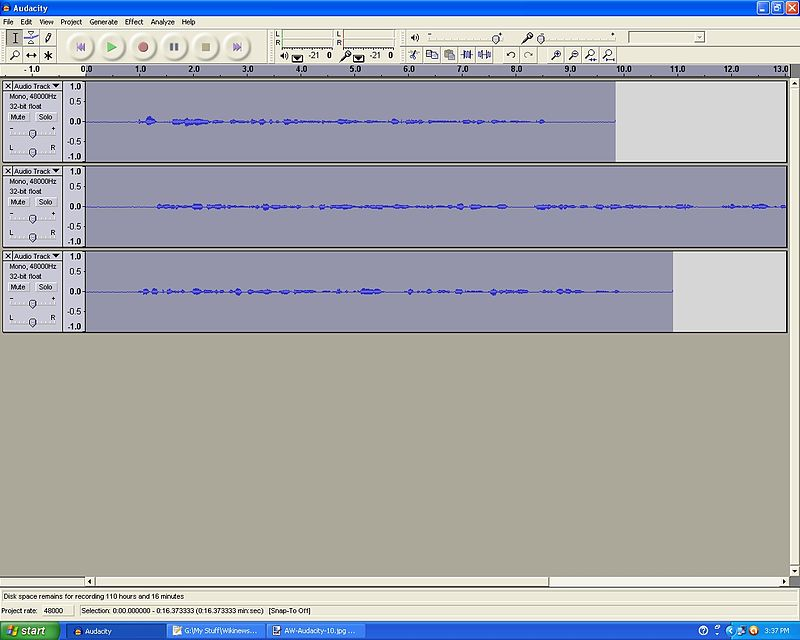 audacity how to set recording volume for best