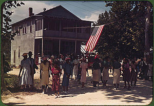 Saint Helena Island (South Carolina) - A Fourth of July celebration. St. Helena Island, South Carolina, 1939.  Photo by Marion Post Wolcott.