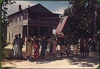 Saint Helena Island (South Carolina) - A Fourth of July celebration. St. Helena Island, South Carolina, 1939.  Photo by Marion Post Wolcott.