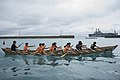 A Japanese team rows during a dragon boat race at White Beach.. (41518837211).jpg