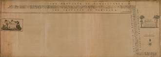 """Charles Mason - """" A Plan of the West Line or Parallel of Latitude"""" by Charles Mason, 1768"""