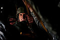 A U.S. Army paratrooper assigned to the 20th Engineer Brigade focuses on his mission prior to jumping out of a C-130H Hercules aircraft during a Joint Operational Access Exercise (JOAX) at Fort Bragg, N.C., on 130626-F-GO452-880.jpg