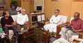 A UK delegation led by Mr. Virendra Sharma, MP, meeting the Union Minister for Rural Development and Panchayati Raj, Dr. C.P. Joshi, in New Delhi on October 05, 2010.jpg