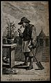 A gardener smelling a flower; representing the sense of smel Wellcome V0007698.jpg