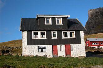 Gásadalur - Image: A house in Gasadalur, Faroe Islands