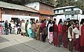 A large number of voters in a queue to cast their vote at a polling booth of Sanjoli, Distt. Shimla, during the Himachal Pradesh Assembly Election on November 04, 2012.jpg