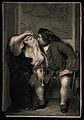 """A scene from L. Sterne's """"Tristram Shandy""""; a man looks into Wellcome V0015886.jpg"""