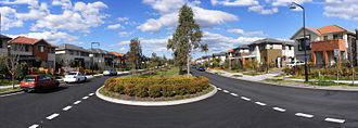 Punchbowl, New South Wales - Newly built houses in a new street in Punchbowl