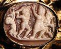 Aachen, busto-reliquiario di carlo magno, con corona di fattura forse praghese, post 1349, 16 cammeo.jpg