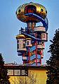 Abensberg, Kuchelbauer Turm - geplant und erdacht von Friedensreich Hundertwasser (Blick vom Kunstaus) **HDRI** (8619198382).jpg