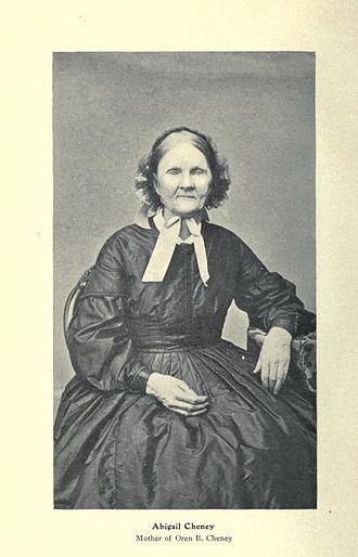 Moses Cheney - Cheney's wife, Abigail Cheney