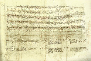 Compromise of Caspe - Original deed of the compromise.