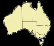 Location of Adelaide within Australia