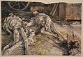 Adolph Menzel - Leichen-Kammer zu Koninginhof - Drei gefallene Soldaten in einer Scheune (21 July 1866).JPG