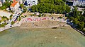 Aerial view of Bacvice Beach in Split, Croatia (48608745867).jpg