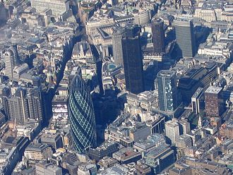 Cornhill, London - Image: Aerial view of the City of London